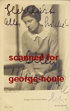 ELLEN SCHWANNEKE - POSTCARD - AUTOGRAPHED - CA 1930S - GERMAN ACTRESS