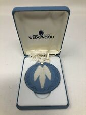 Wedgwood Blue Jasperware Angel Annual Christmas Ornament 1989