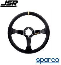 Sparco R 325 Steering Wheel 3-Spoke Black Suede PN: 015R325CSN