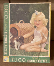 Tuco Deluxe Picture Puzzle Vintage Complete Blonde Girl W/Puppy