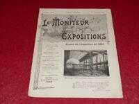 [REVUE EXPOSITION UNIVERSELLE 1900] LE MONITEUR DE 1900 N° 52 #  MAI 1899