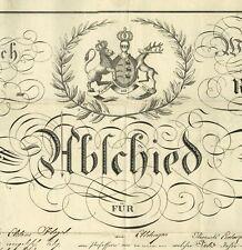 Württemberg 5. Infanterie Regiment LUDWIGSBURG 1828 Aldingen Dekorativ