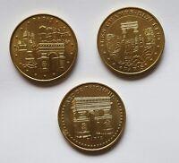 3 Paris Coins - Arc de Triomphe - Les Champs Elysees - Monnaie de Paris 2011-12