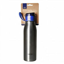 Blue Stainless Steel Bicycle Water Bottles and Cages