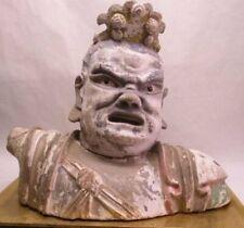 Song-Early Ming Dynasty stucco Lokapala bust