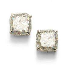 NWT KATE SPADE GLITTER SQUARE STUD EARRINGS $32 SILVER OPAL MULTI COLOR