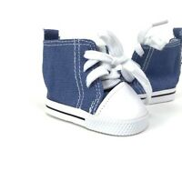 """Doll Clothes 18"""" Sneakers High Top Blue Fits American Girl Dolls"""