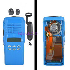 Blue Motorola GP338 Housing Case Cover With OEM Speaker