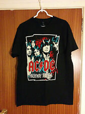 AC/DC t-shirt Highway to Hell illustrated Angus Bon Scott hard rock metal large
