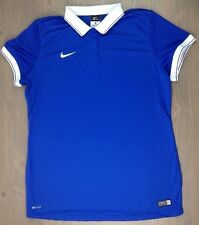 Nike Polo XL Womens Laser II Soccer Jersey Dri Fit SS Authentic Team White Blue