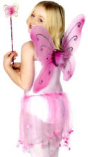 Pink Fairy Butterfly Wings Wand Girls Fancy Dress Accessory Set Smiffys 29106
