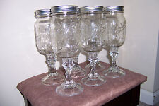 New listing Mason Jar Hillbilly Wine Glasses - Set of 6 - Great for gifts, parties, picnics