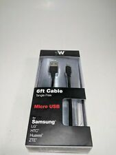 2M Micro Usb Cable cargador para Alcatel 1X Evolve/Samsung J2. J7 Star, J3 Prime