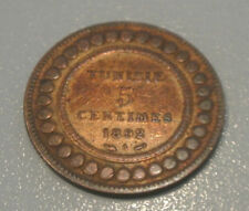 TUNISIE 5 CENTIMES 1892  A CUIVRE