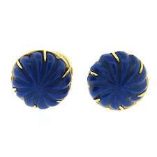 Lapis Lazuli Gold Cufflinks Tiffany & Co Carved