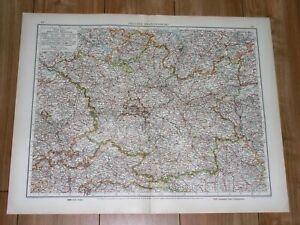 1930 ORIGINAL VINTAGE MAP OF BRANDENBURG BERLIN MAP ON REVERSE SIDE / POLAND