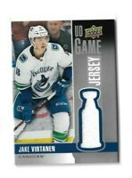 2019-20 UPPER DECK GAME JERSEY #GJJV JAKE VIRTANEN UD CANUCKS
