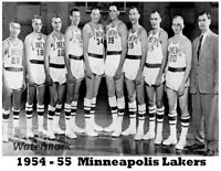 NBA 1954 - 55 Minneapolis Lakers Black & White Team Picture 8 X 10 Photo Picture