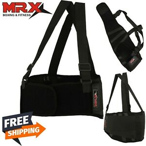 Weight Lifting Belt Lumber Back Support Strap Heavy Work Pain Relief Brace
