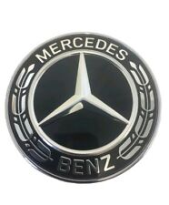 Mercedes-Benz Black Wreath Flat Bonnet Badge Emblem A0008171701 NEW 57mm