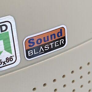 Creative Sound Blaster Computer Case Badge Color Flat Sticker 386 486 Pentium PC