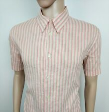 New PS Paul Smith Mens Shirt Orange Red Striped Lightweight XL , 17.5 RRP £125