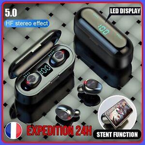 Écouteur Bluetooth Sans Fil TWS F9 Stéréo Casque avec Microphone LED iOS Android