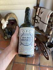1890 Julius Goldbaum Tucson Arizona Whiskey Bottle Old Fashion Copper Antique