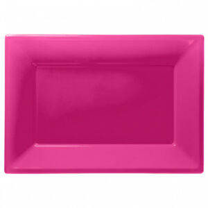 Plastic Serving Platter Plates Trays Wedding Buffet Party Tray Hot Pink