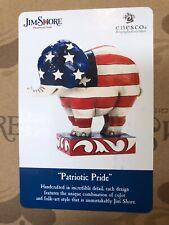 Jim Shore Enesco Patriotic Pride Elephant Figurine #4052077 American Flag New