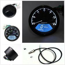 Universal LCD Digital Odometer Motorcycle Speedometer Tachometer Gauge LED New