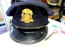 More details for vintage rare san francisco police peak cap with badge from house clearance
