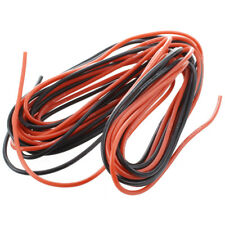 2x 3M 20 Gauge AWG Silicone Rubber Wire Cable Red Black Flexible A4Y6