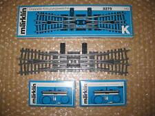 MÄRKLIN H0 DKW-Weiche Nr.2275 mit 2xAnrtieb Nr.7549 Neu  /S632