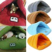 Pet Cat Dog Nest Bed Puppy Soft Warm Cave House Winter Mat Pad Bag Sleeping H3M7