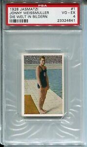 1928 Jasmatzi Die Welt Bildern 1 Johnny Weissmuller PSA 4 USA Olympics Swimming
