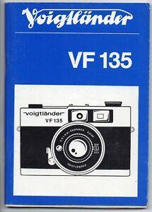 Voigtländer VF 135 Gebrauchsanleitung different languages