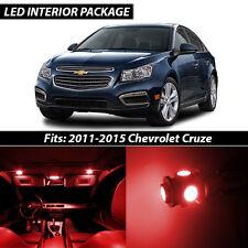 2011-2015 Chevrolet Cruze Red Interior LED Lights Package Kit