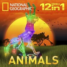 Animals National Geographic Laser Pegs Lighted Construction Toy Blocks Light Up
