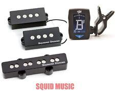 Seymour Duncan SPB-3 & SJB-3 PJ Precision P Jazz Bass Quarter Pound SET W/Tuner