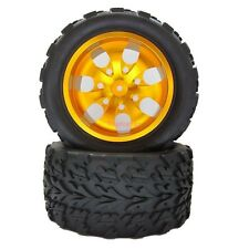 4x RC Rubber Tires Tyre Aluminum Rim Wheel 1:10 HSP Monster Truck ST88142