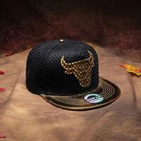 NEW Bull Brim Snapback Hats Baseball Caps Adjustable Hip Hop Bboy Hats Unisex