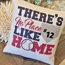 Custom Baseball Pillow There's no place like home sports boys baseball theme