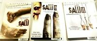 Saw Movie 1 2 3 Promo DVD Rental Cards 2010 DVD Horror Rare Lot of 3