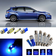 9×Blue LED Interior Light Package Kit for Subaru Impreza 2004-2015