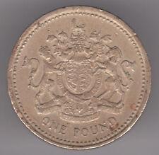Reino Unido £ 1 lb (approx. 0.45 kg) 1983 moneda de níquel-Latón-escudo de armas