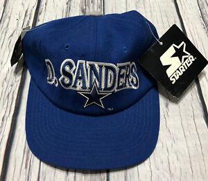 NOS Vintage 90's NFL Starter Wool Deion Sanders Dallas Cowboys Snap Back