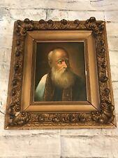 Vintage Original Langley Noble Man Portrait Oil On Canvas Gilt Wood-Gesso Frame