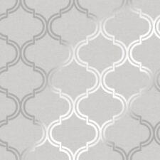 Scintillant Geo Papier Peint Treillis Gris/Argent - Holden 12750