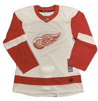 Detroit Red Wings Hockey Jersey White CA7085 Size 50 AUTHENTIC Adidas NHL NEW